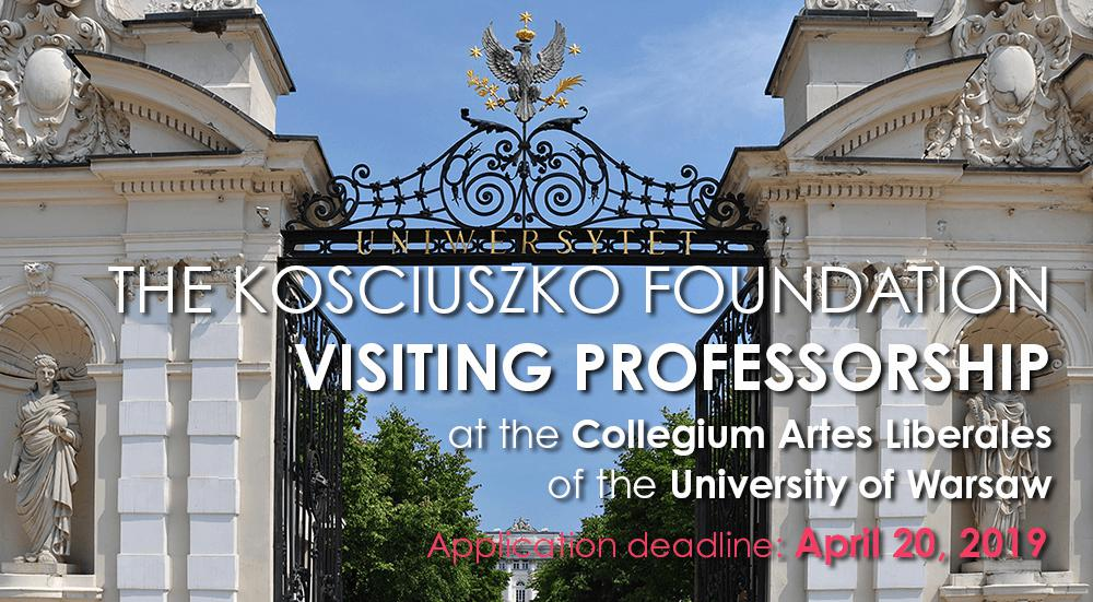 The KF Visiting Professorship at the Univeristy of Warsaw